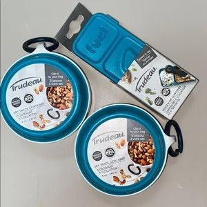 Trudeau Snack Cont 2-8 Ounce Bowls & a Snack & Dip